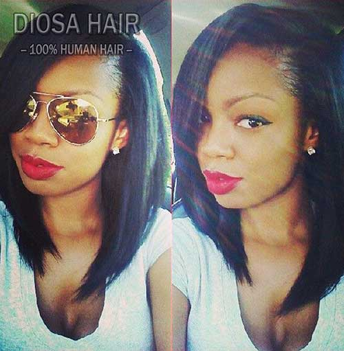 Best Silky Straight Short Bob for Black Women