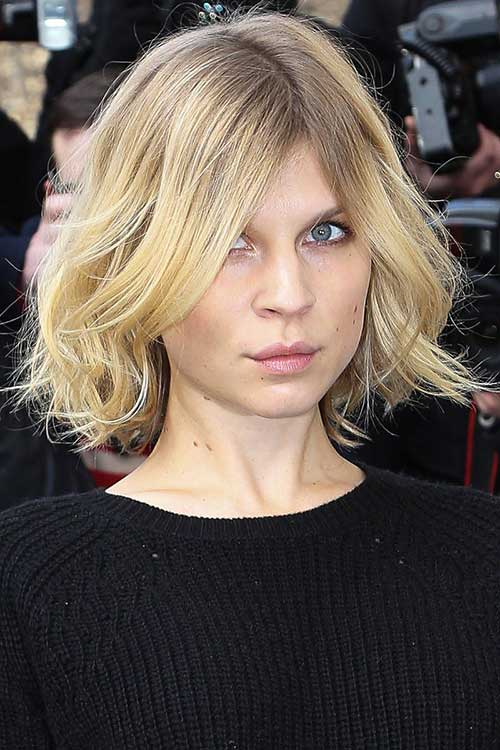 Soft Blonde Tousled Bob Haircuts