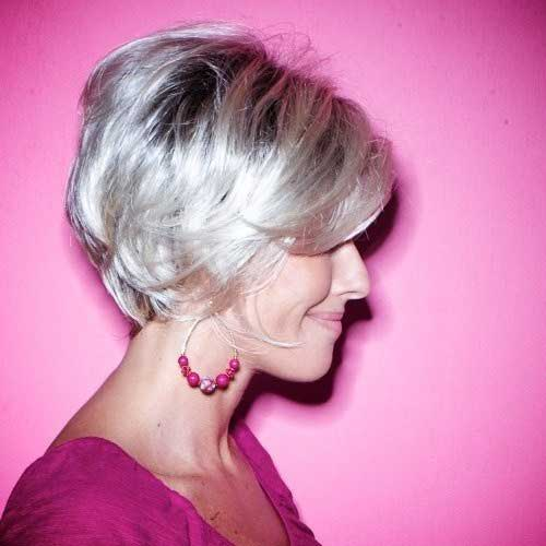 Straight Bob Hairstyles for Older Women