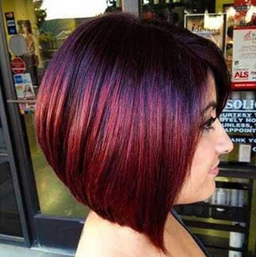 Straight Dark Red Bob Haircuts