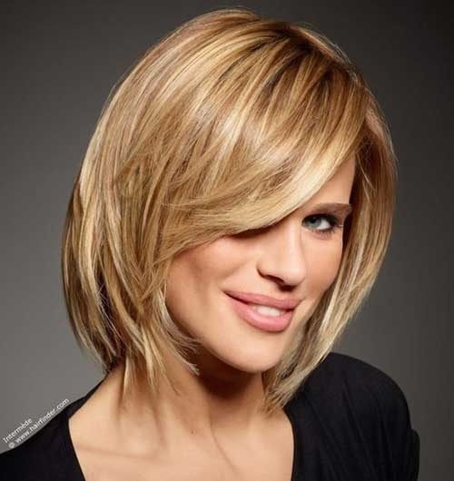 Straight Medium Blonde Bob Haircuts