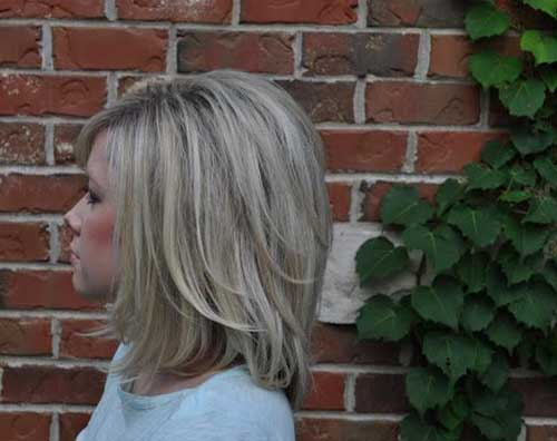 Thick Cute Layered Blonde Bob Hair