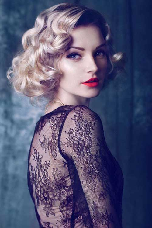 Vintage Curly Short Bob Hairstyles