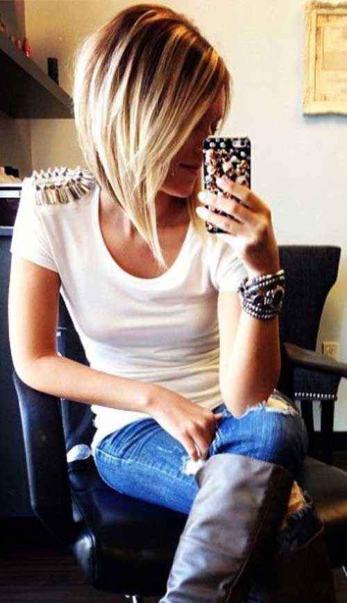 Long Bob Hair Styles-13