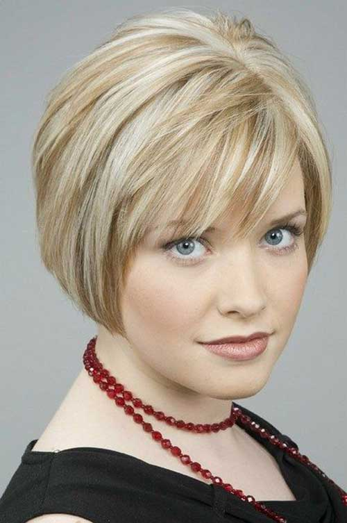 Bobs Hairstyles for Round Faces-8