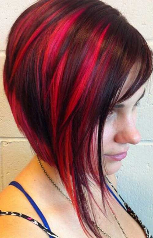 15 Different Red Colored Bob Hairstyle Ideas For Women