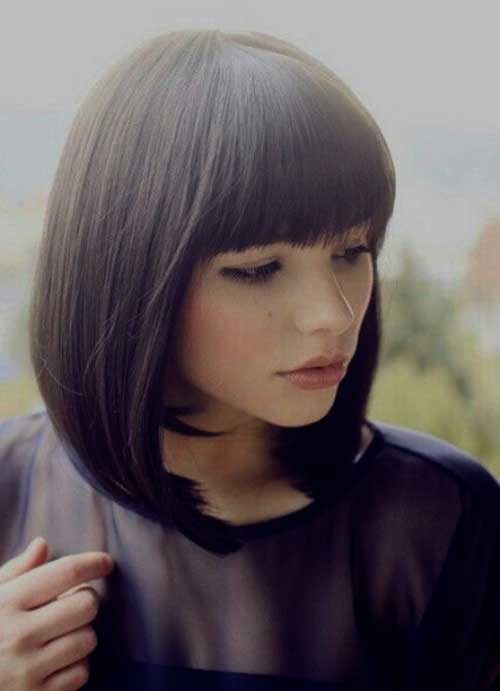 Medium Bob With Bangs-9