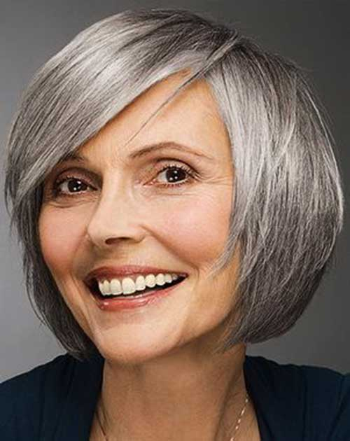 Short Bob Hairstyles for Women Over 50-9