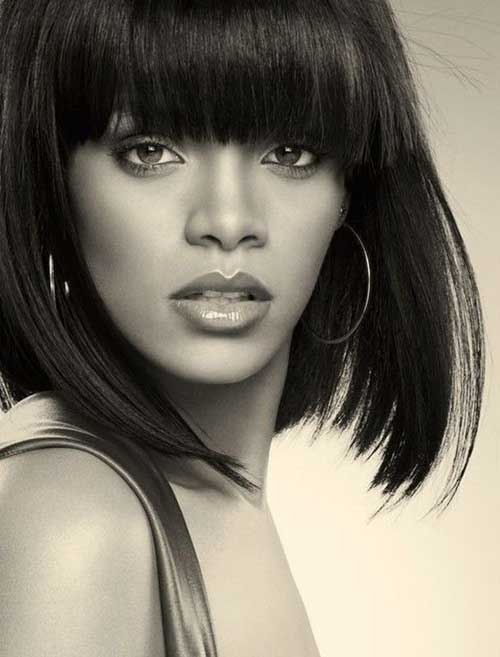 Rihanna Haircut Bob