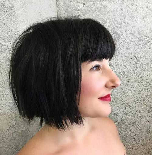 Short Bob Hairstyles With Bangs-12