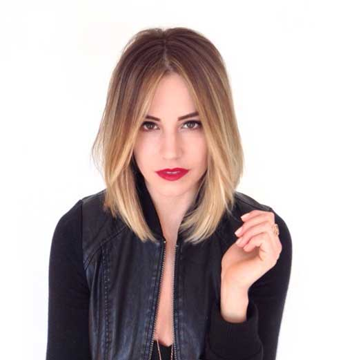 Long Bob Ombre Hair-16