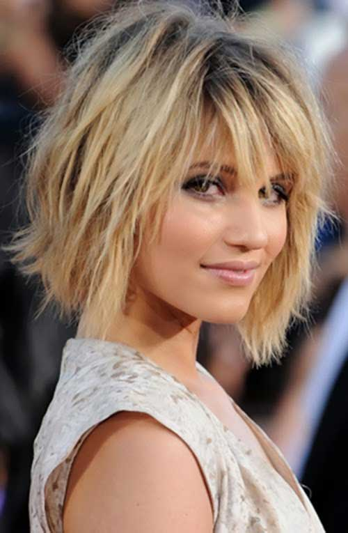Short Layered Bob Haircuts-19