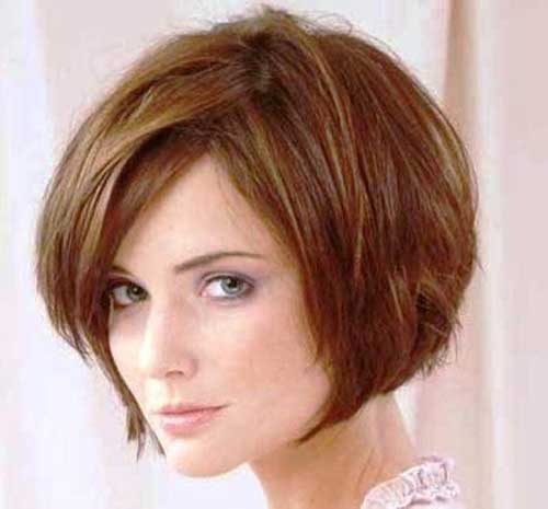Short Layered Bob Haircuts-21