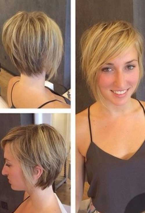 Short Layered Bob Haircuts-27