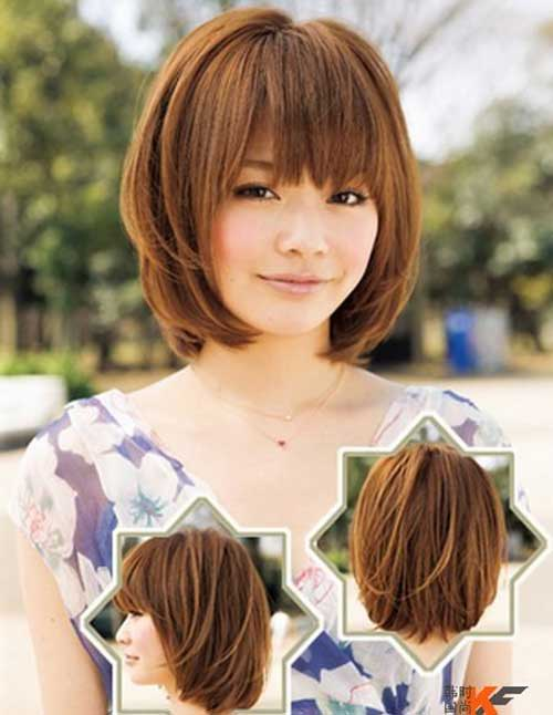 Short Bob Hairstyles With Bangs-7