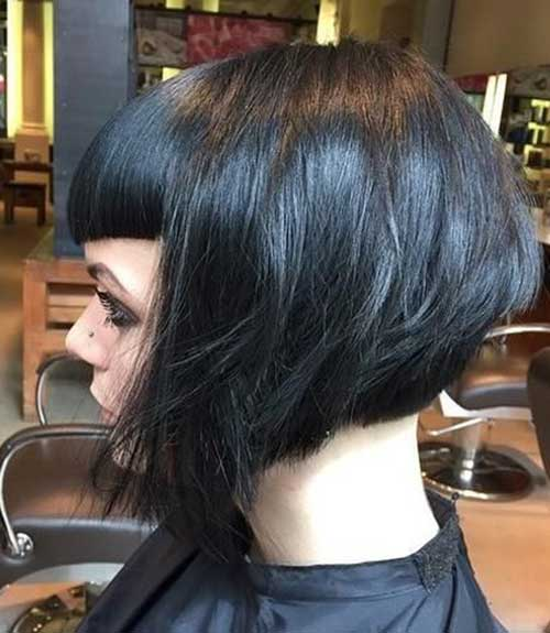 Graduated Bob Hairstyles with Bangs