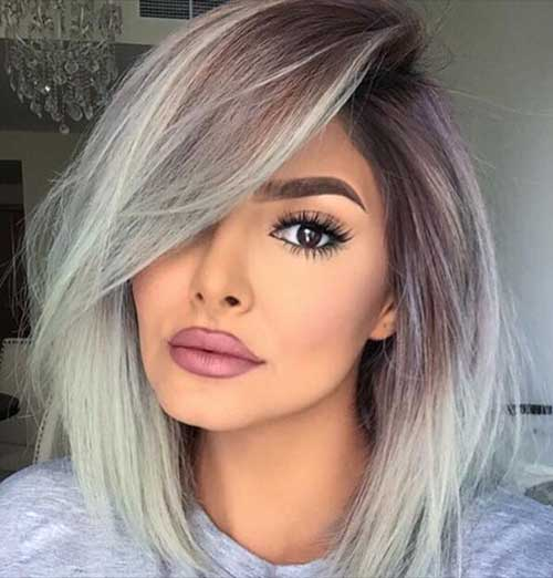 Ombre Hairstyle Long Bob