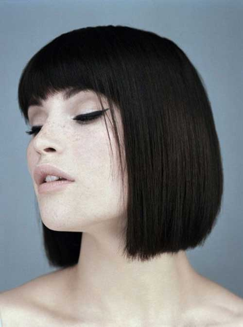 Dark Brown Bob Hairstyles-19
