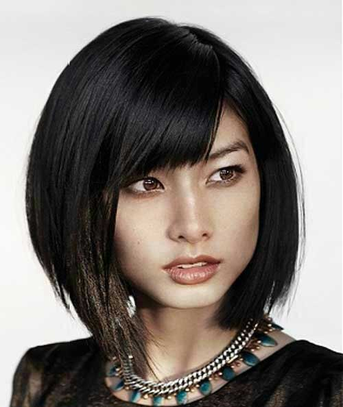 30 Best Inverted Bob With Bangs Bob Hairstyles 2018 Short Hairstyles For Women