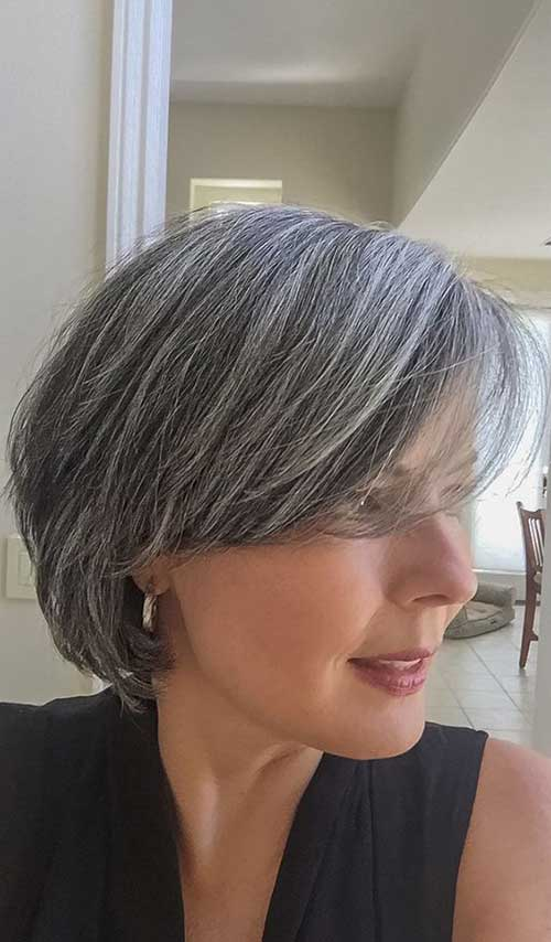 growing out grey hair styles casual bob haircuts every need to see bob 7321