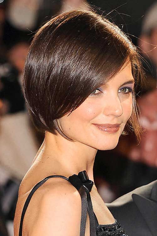 Katie Holmes Bob Cut with Bangs