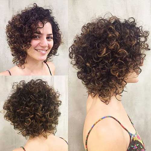 Curly Hair Bob Haircuts