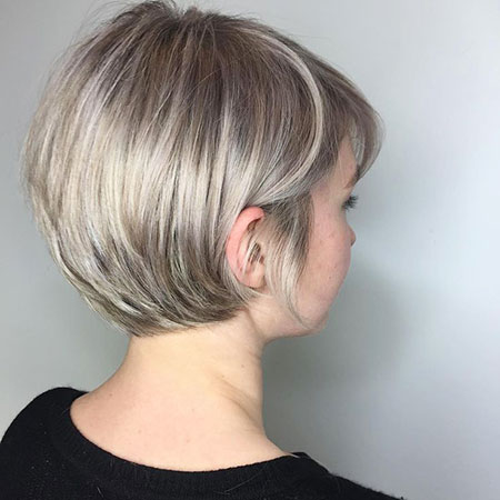 Pixie Blonde Short Long Bob 207 Thin Layered Fine Bobs