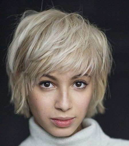 Short Shaggy Fine Blonde Two Thicker Textured