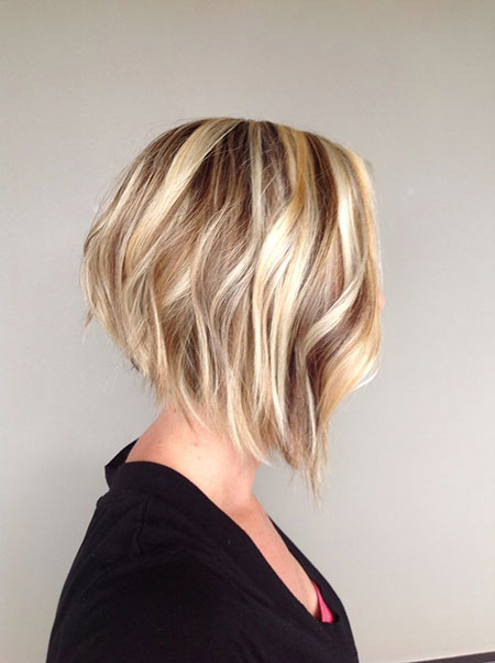 Bob Angled Bobs Blonde Short Layered Blunt Balayage