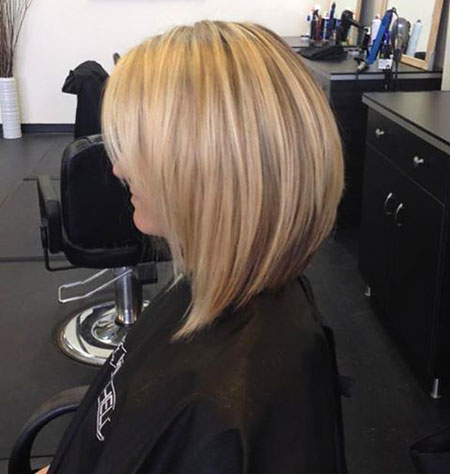 Bob Blonde Short Highlights Stacked Long Line