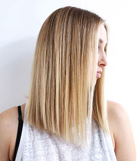 Long Bob Blonde Ombre Lob Highlights Colors Balayage 2017