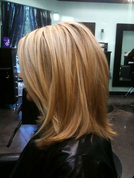 Blonde Highlights Bob Short Long Lowlights