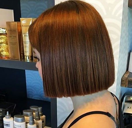 Bob Length One Short Highlights Chin Bobs Blunt