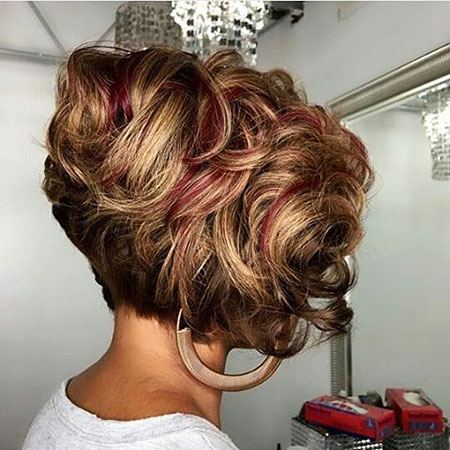 Short Updo Page Curly Curls Bob