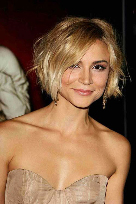 Short Bob Updo Messy Fine Diaz Cameron Blonde