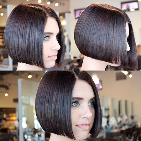 Bob Classic Back Short Shape Graduated Cute Bobs