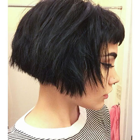 Short Bob Pixie Bangs