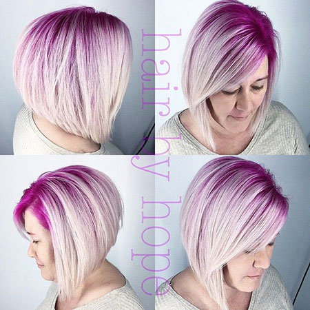 Short Bob Pixie Inverted Woman without One Modern Low