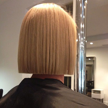 Bob Blunt Very Straight Long Highlights Box Bobs Blonde