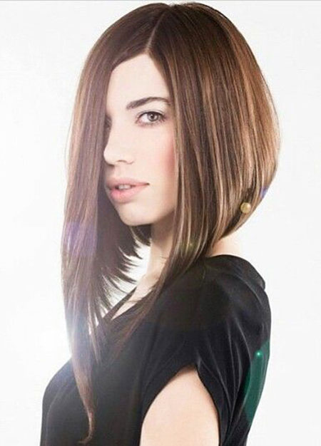 Bob Very Modern Long Line Inverted Bobs Asymmetrical