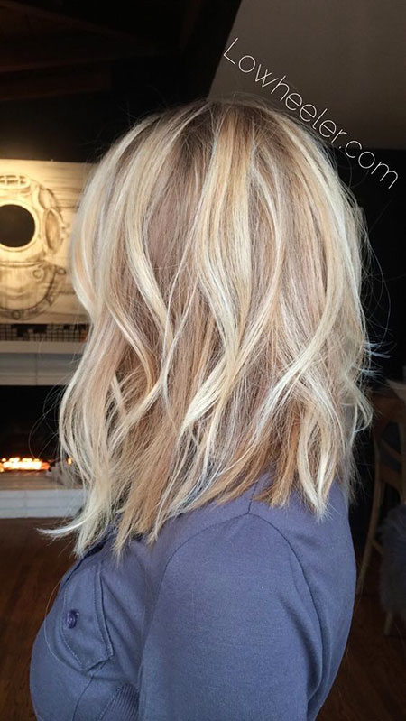 Blonde Balayage Long Highlights World Women Shoulder