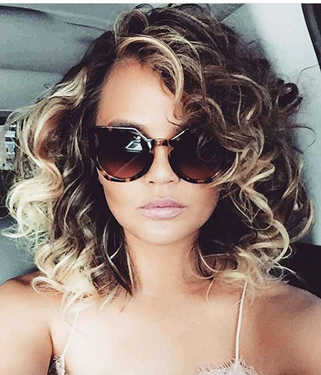 Curly Sunglasses Short Highlights Celebrity
