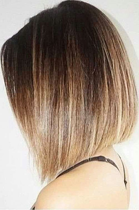 Bob Shoulder Short Ombre Medium Layered Brown Bobs Big