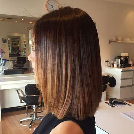 Shoulder Ombre Length Straight Balayage