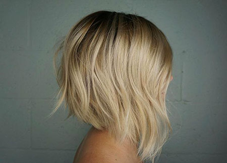 Bob Blonde Bobs Highlights Blond Balayage Baby Artist Angled