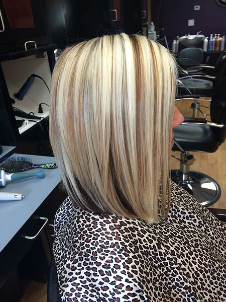Blonde Shoulder Lowlights Length Highlights