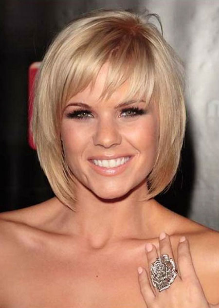 Short Bob Bangs Thin Medium Layered 35