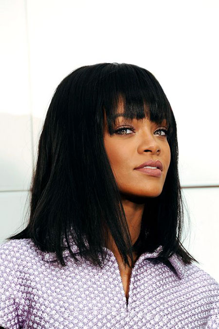 Rihanna Washington Long Bob Bangs Naomi Kerry Campbell