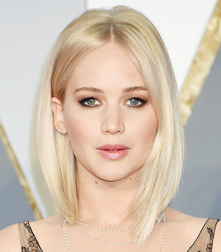 Thin Lawrence Jennifer Bob Blonde Bangs All