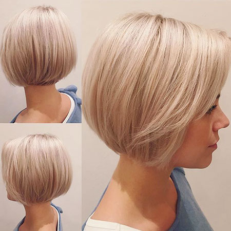 Short Bobs Bob One Length Blonde All
